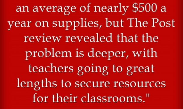 Wash. Post Survey Confirms We Teachers Spend A Lot Of Our Money On Students