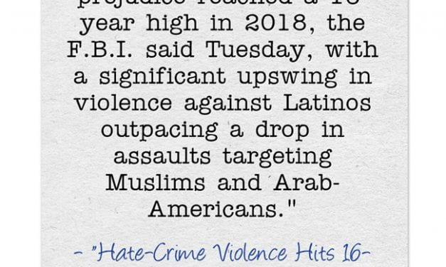 Depressing Statistic Of The Day: Hate Crimes Up In The U.S. – Again