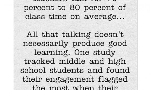 Research Says We Teachers Talk Too Much