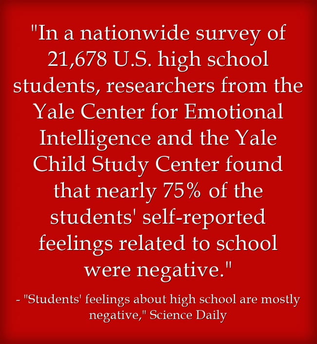 "New Survey Says Students Mostly Feel ""Tired, Stressed & Bored "" (In That Order) At High School"