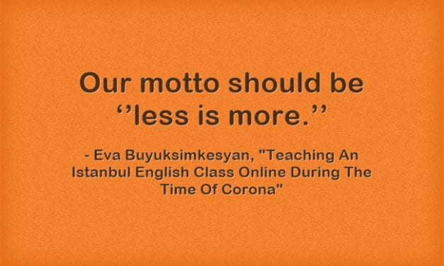 Guest Post: Teaching An Istanbul English Class Online During The Time Of Corona