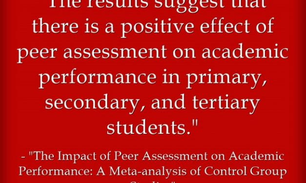 New Study Finds That Peer Assessment Works – Pretty Much Any Way You Do It
