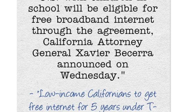 California Announces Deal To Provide Free Internet To Low-Income Families