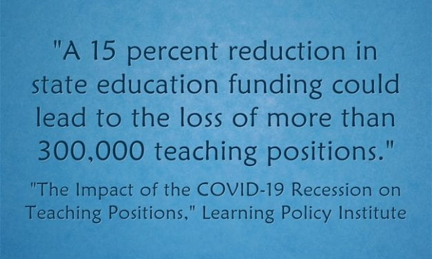 Statistic Of The Day: 300,000 Teacher Lay-Offs?