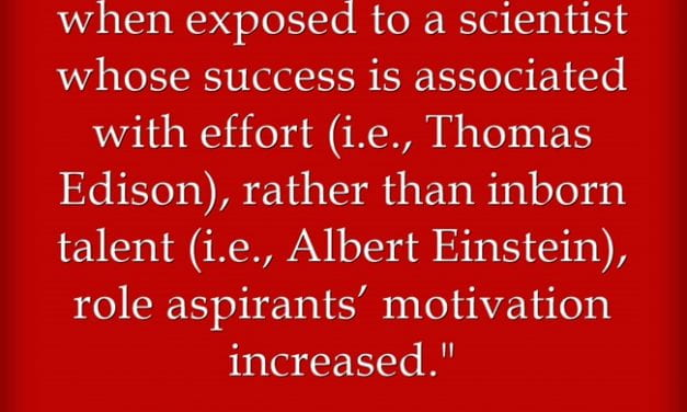Highlighting Scientists Who Succeeded More Through Effort Than Brilliance Enhances Student Motivation In Science