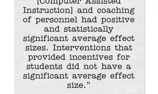 New Big Study Finds Several Math & Reading Interventions Helpful To Secondary Students, But Offering Incentives Is Useless