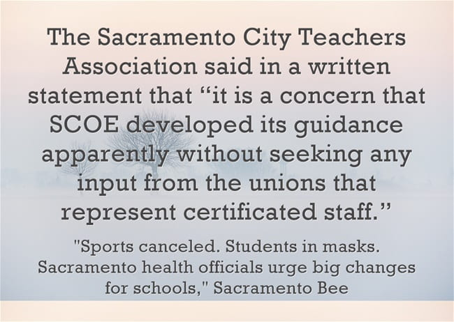 Sacramento County Office Of Education Releases Fall Re Opening Guidelines Apparently Without Talking To Unions Larry Ferlazzo S Websites Of The Day