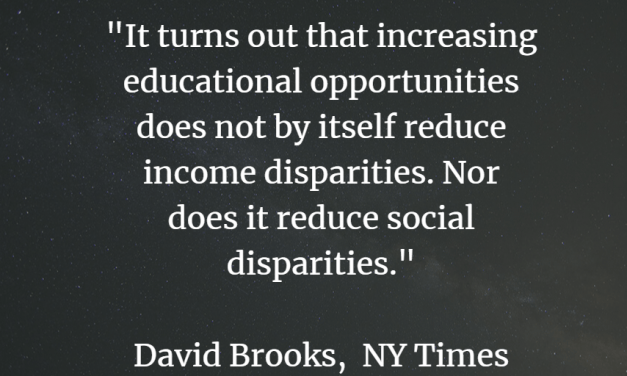 Stop The Presses!  NY Times Columnist David Brooks Finally Gets Something Right About Education!
