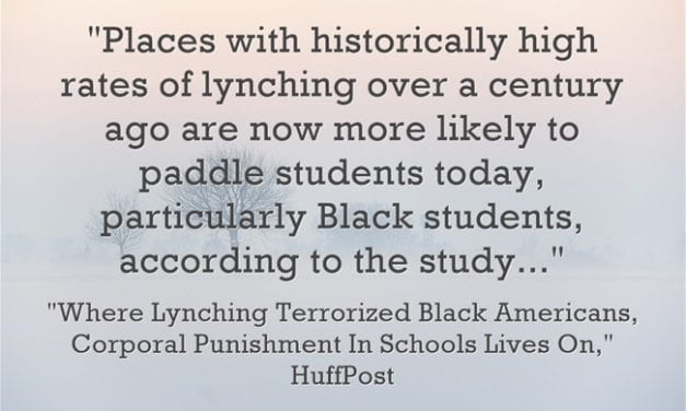 Scary Statistic Of The Day: Counties Where Lynchings Took Place In The Past Paddle Black Students Now