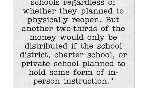 Statistic Of The Day: Most Ed Money In Republican Proposal Requires Schools To Offer On-Site Instruction