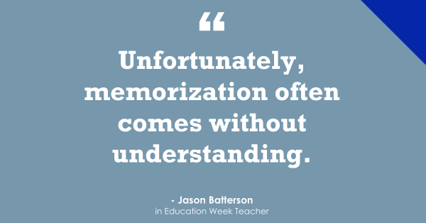'Memorization Often Comes Without Understanding'