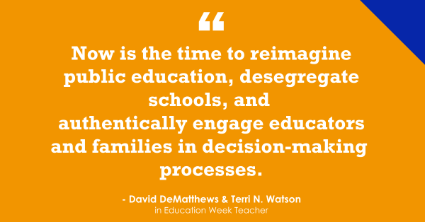 """Now Is the Time to Address Education's 'Most Pressing Equity Issues'"""