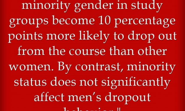 Study Suggests That Women May Not Have Positive Experiences When They Are In Small Groups That Have More Men