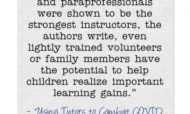 """Study Finds Even """"Lightly Trained"""" Tutors Can Have Major Impact On Student Learning"""
