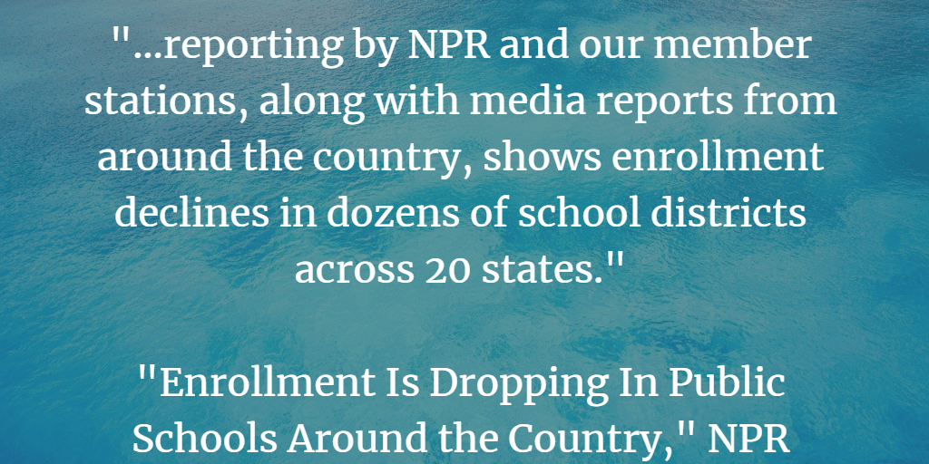 A Look Back: Enrollment In Some Districts Is Going Down – Should We Be Worried?