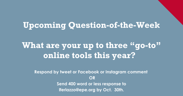 "What are your up to three ""go-to"" online tools this year?"
