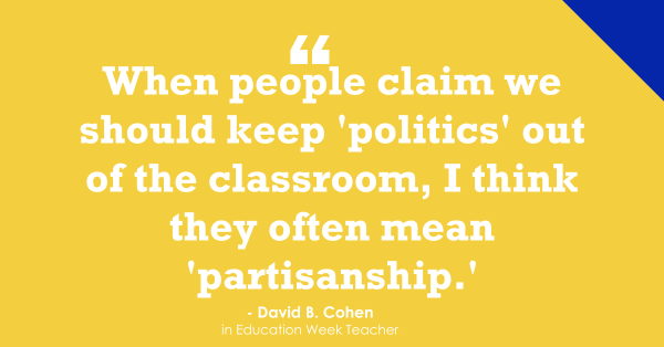 """Readers Respond: Should Politics Be Kept Out of the Classroom?"""