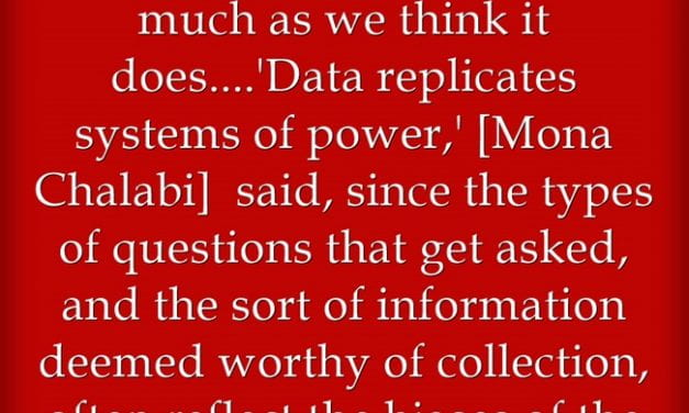 """""""Data Alone Is Not Knowledge"""""""
