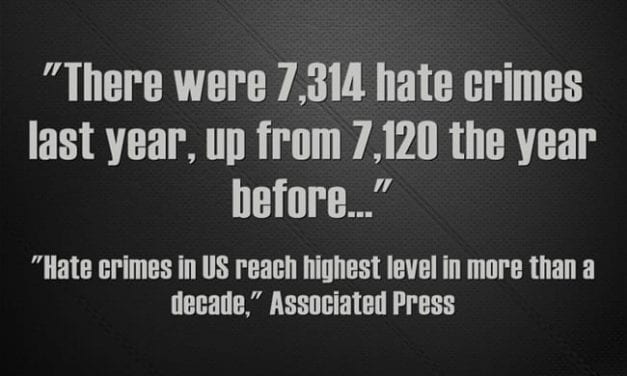Depressing Statistic Of The Day: Hate Crimes Up – Again