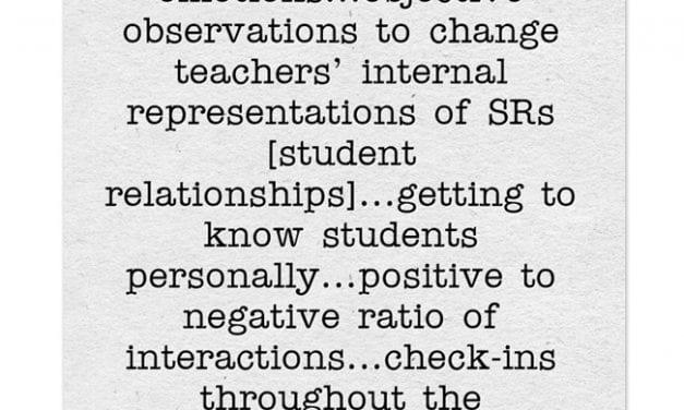 "New Meta-Analysis Highlight ""Establish-Maintain-Restore"" As Most Effective Teacher-Student Relationship Strategy"