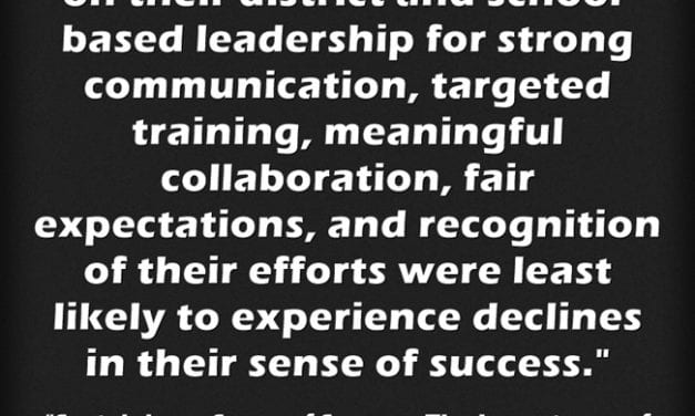 I Wonder How Many District & School Leaders Are Applying This Research Finding Today?
