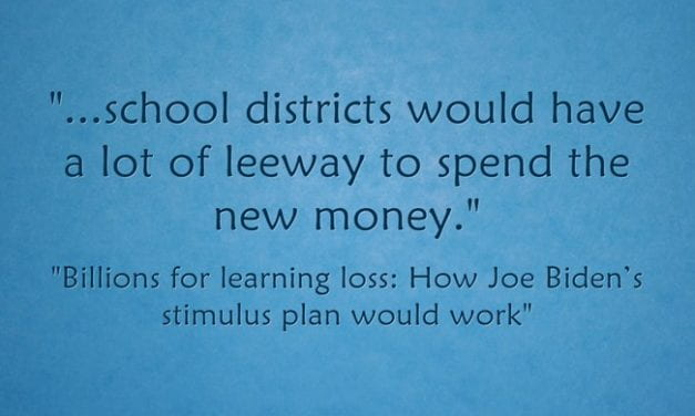 Guidelines For The $130 Billion Schools Will Get In The Next Stimulus Look Amazing!  What An Opportunity!
