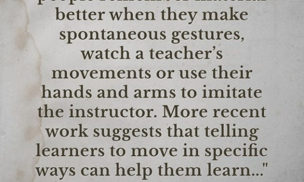 Excellent Research Summary On Using Gestures When Teaching