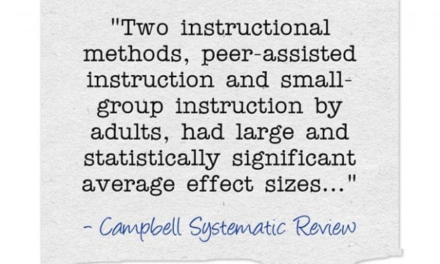 New Research Review Finds Small Group & Peer Instruction Effective