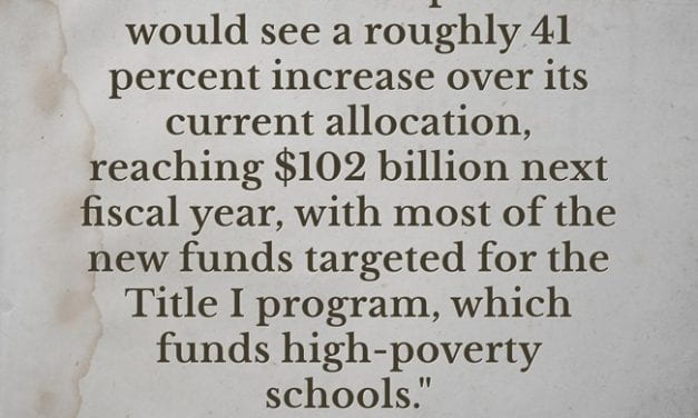 Statistic Of The Day: Biden Budget Proposes Huge Increase To Support High-Poverty Schools