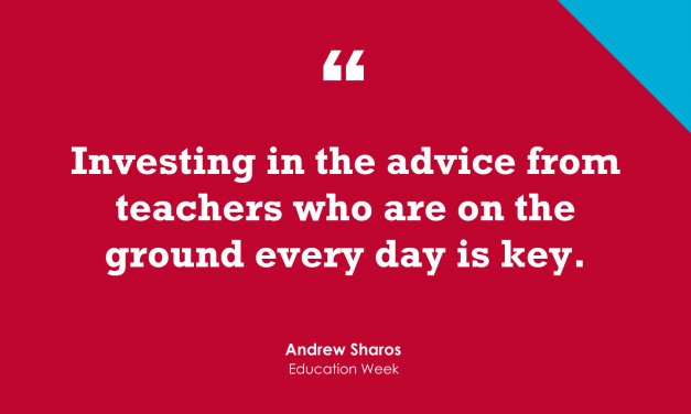 """""""The Best Sources of Classroom Advice Are 'Teachers Who Are on the Ground Every Day'"""""""