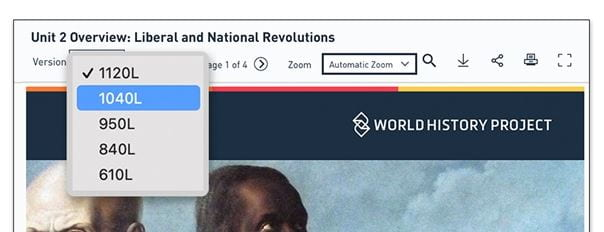 The OER Project Offers The Same Social Studies Texts In Different Lexile Levels – For Free!