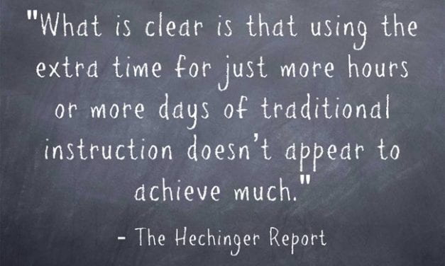 Research Suggests All Those Districts Considering Adding More Days Or Minutes Should Think Again