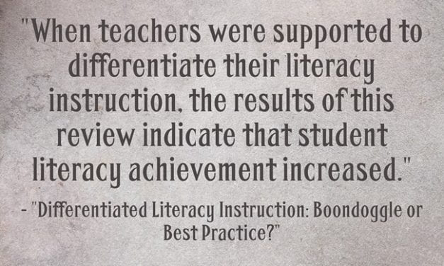 New Meta-Analysis Finds Something That Is No Surprise To Teachers: Differentiation Works