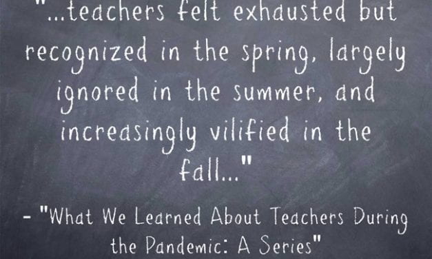 This Ed Week Series On Teachers During The Pandemic Looks Really Interesting