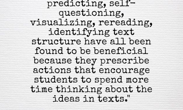 Quote Of The Day: A Good Explanation For Why To Use Reading Strategies